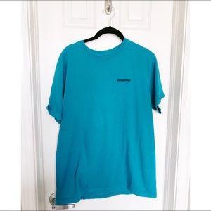 PATAGONIA// Teal Blue T-Shirt